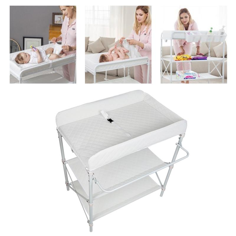 3-layers Multifunction Baby Changing Table Foldable Newborn Diaper Changing Tables Safety Care Station Infant Mats Dropship HWC