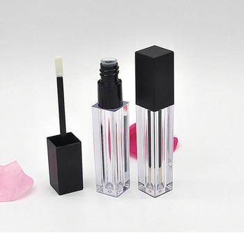 Tubos vacíos de brillo de labios cuadrados, transparentes, de plástico, 100 unidades, brillo de labios, recipiente de muestra de labios cosméticos, botella de embalaje brillante #31659