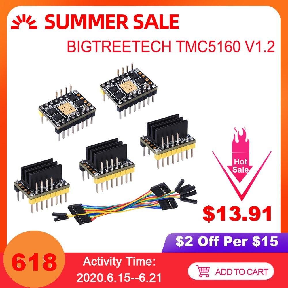 BIGTREETECH TMC5160 V1.1 SPI moteur pas à pas pilote imprimante 3D pièces TMC2208 A4988 TMC2130 SKR V1.3 Reprap MKS GEN L rampes 1.4 1.6