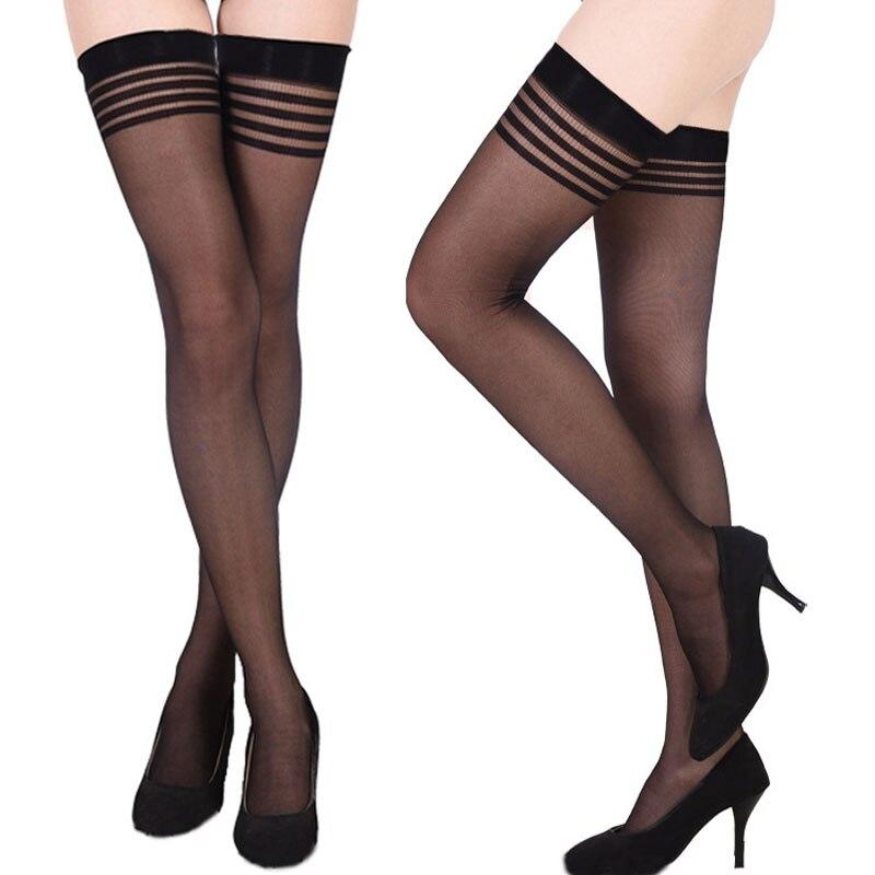 Sexy Stockings Medias Compression Nylon Long Thigh High Stockings Thin Women Summer Lolita Silk Stockings
