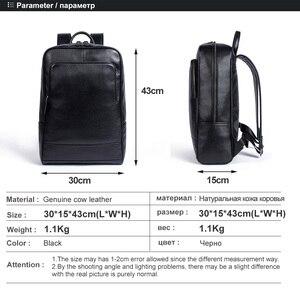 Image 3 - MVA sacs à dos en cuir véritable pour homme, cartable de grande capacité, sac à dos pour ordinateur portable étanche, sac de voyage, sac de jour pour adolescent