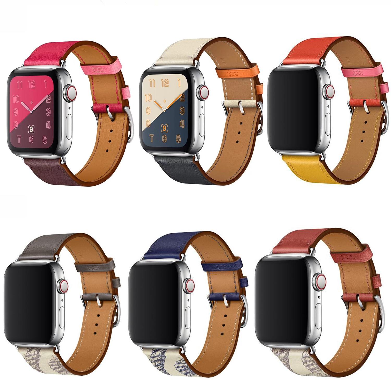 Laço de couro de alta qualidade para iwatch 40mm 44mm esportes cinta banda única turnê para apple watch 42mm 38mm série 1 2 3 4 5