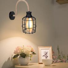 Luz de baño AC85-265V E27 LED Vintage estilo Retro cuello de cisne de hierro lámpara colgante de pared para restaurante Estudio Bar Café