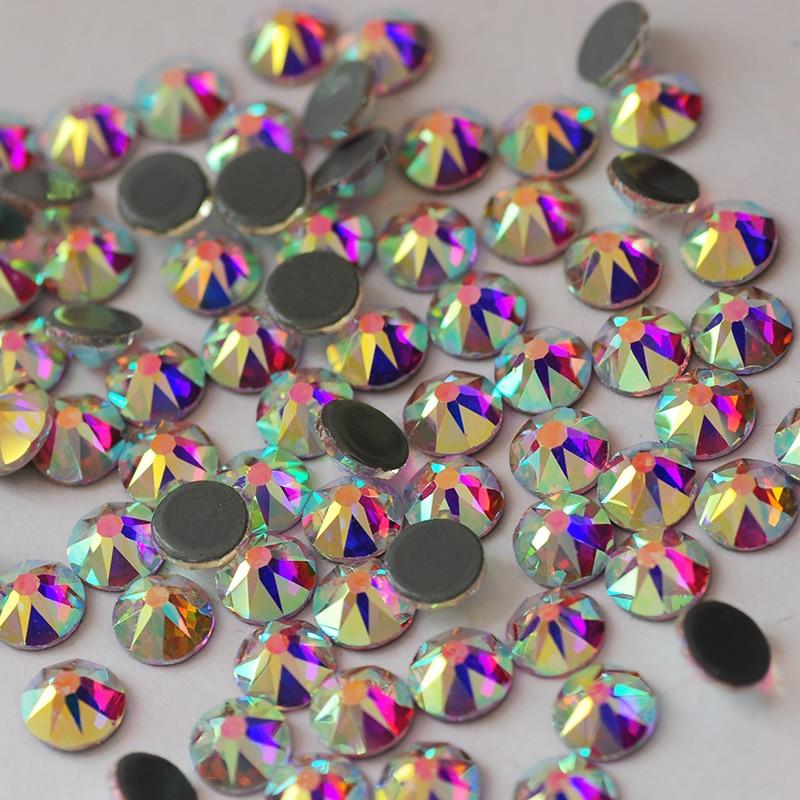 Супер стеклянные узоры hotfix Стразы strass ab с плоской задней