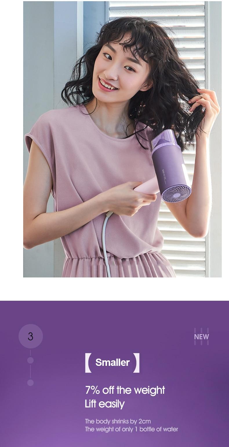 Soocas h5 atualizado anion secador de cabelo