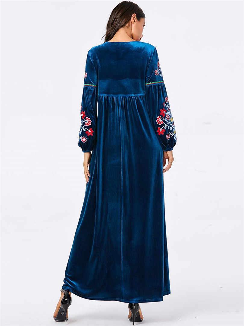 عباية تركية حجاب عربي إسلامي فستان إسلامي Tesettur Elbise المغرب رداء Musulmane Longue قفطان قفطان مغربي Vestidos