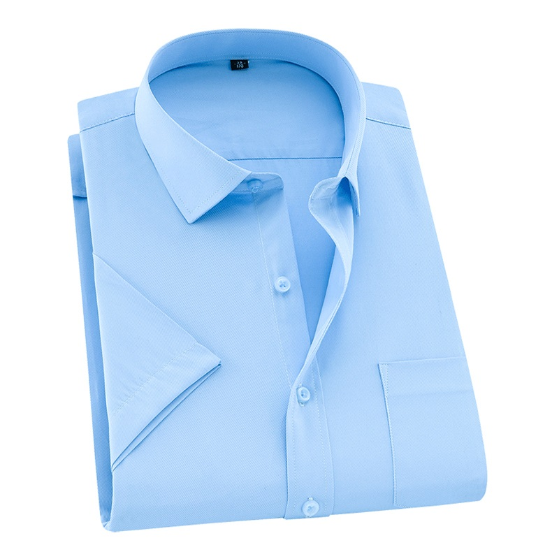 2020 New Summer Plus Size Men Shirt Short Sleeved Solid Twill Business Shirt Male Clothes Size 5XL 6XL 7XL 8XL DS252(China)