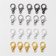 10Pcs 10x5mm 12x6mm Metal Alloy Lobster Clasp End Connectors Hooks for Necklace Bracelet Jewelry Making Chain Closure Findings