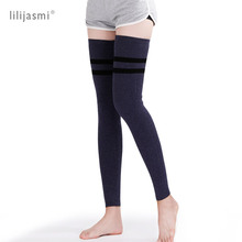 Wool Thick Leg Warmers Women Winter Ribbed Knit Warm Soft Boot Gaiter High Knee Sleeve Unisex Topper Stocking