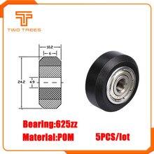 5 шт./лот CNC Openbuilds пластиковые колеса pom с 625zz натяжной шкив шестерни пассивное круглое колесо perlin колесо для Ender 3 CR10 CR-10S