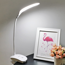 Купить с кэшбэком Rechargeable Flexible LED Desk Lamp Modern Office Bedside Room Study Lamp Light Table Lamps 18650 Battery Touch Switch Dimmer
