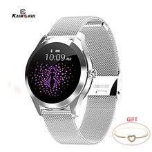 Kaimoru 스포츠 스마트 워치 여성 방수 혈압 심장 박동 페이스 피트니스 Tracke 팔찌 Smartwatch connect android IOS