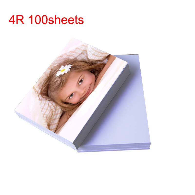 4R 100 Sheets Glossy Photo Paper For Inkjet Printer Paper Supplies
