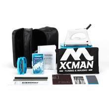 Xcman ski snowboard completo enceramento e ajuste kit storge saco para travling e storge ferramentas bolsa com zíper com ferro de depilação