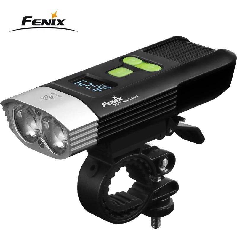 Nouveau Fenix BC30R Cree XM L2 U2 LED haute intensité vélo lumière USB chargeur intégré batterie au lithium O LED écran livraison gratuite
