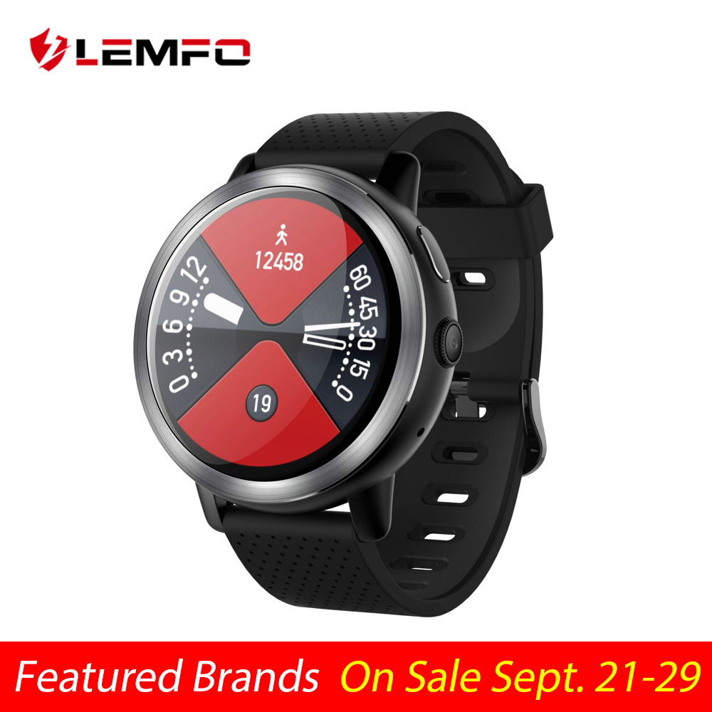 LEMFO LEM8 Pro 4G Smart Watch Android 7.1.1 3GB + 32GB With GPS 2MP Camera 1.39 Inch AMOLED Screen 580Mah Battery Smartwatch Men