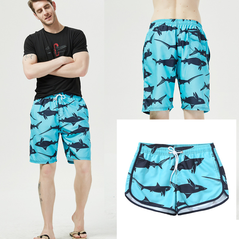 New Style Beach Shorts Men And Women Korean-style Trend Of Fashion Casual COUPLE'S Loose Fashion Shorts