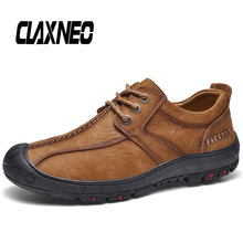 CLAXNEO Mans Casual Shoes Genuine Leather Male Boots clax Footwear Mens Ankle Boot