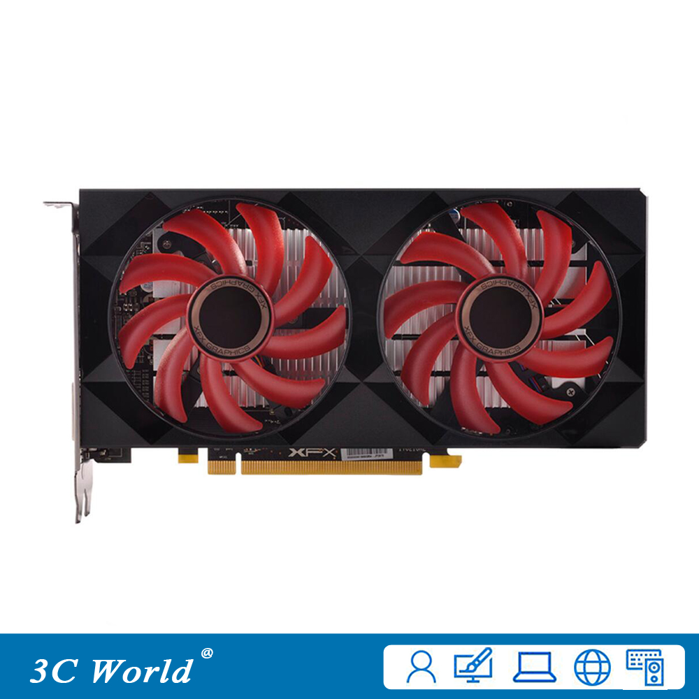 XFX Graphics Cards Desktop-Game 4gb Gddr5 RX560D Displayport HDMI 128bit DVI-D 896sps