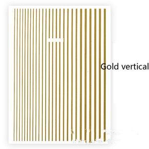 Image 5 - 1 stück Rose Gold Silber 3D Nagel Aufkleber Kurve Streifen Linien Nägel Aufkleber Klebe Striping Band Nail art Aufkleber Decals