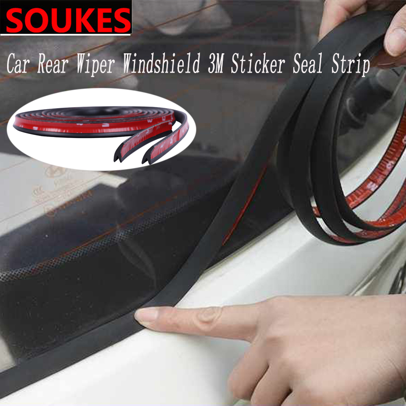 1.8M Car Rear Wiper Windshield Moulding Seal Strip <font><b>Sticker</b></font> For <font><b>BMW</b></font> E46 E39 E90 E60 E36 F30 <font><b>F10</b></font> E34 X5 E53 E30 F20 E92 E87 M3 X6 image