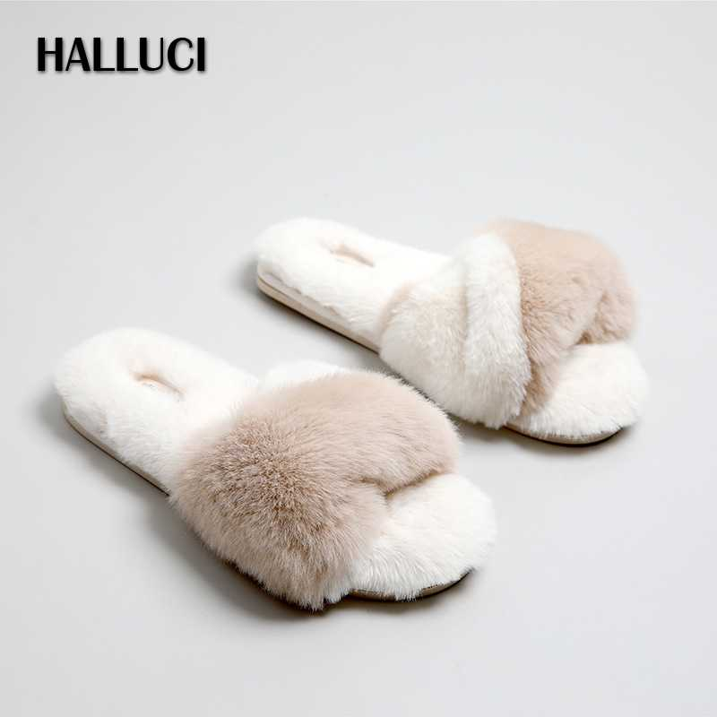Quality Japanese home shoes women slippers soft plush warm Peep toe seasons flip-flops rubber Bedroom non-slip women shoes
