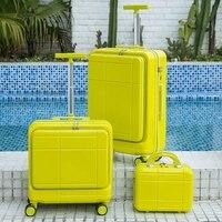 18/20/24 Inch ABS Multicolor Reise Koffer Auf Rädern Tragen Auf Gepäck Set Mit Laptop Tasche Trolley Roll Gepäck tasche Kabine