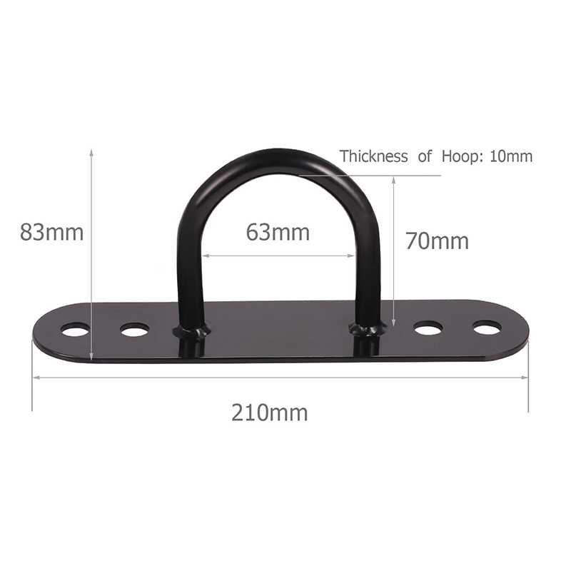 Rope Wall Ceiling Bracket Anchor Bracket Hook for Elastic Shoulder Strap Body Weight Strength Training Yoga Swings Hammocks Boxi