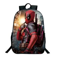 Deadpool torby szkolne Wade Winston Wilson moda fajny wzór plecak dla nastolatków piękne studenci chłopcy dziewczęta plecak szkolny tanie tanio JUNBIE NYLON Miękki uchwyt Tłoczenie Łukowaty pasek na ramię Deadpool backpack Poliester Unisex Miękka printing Na co dzień