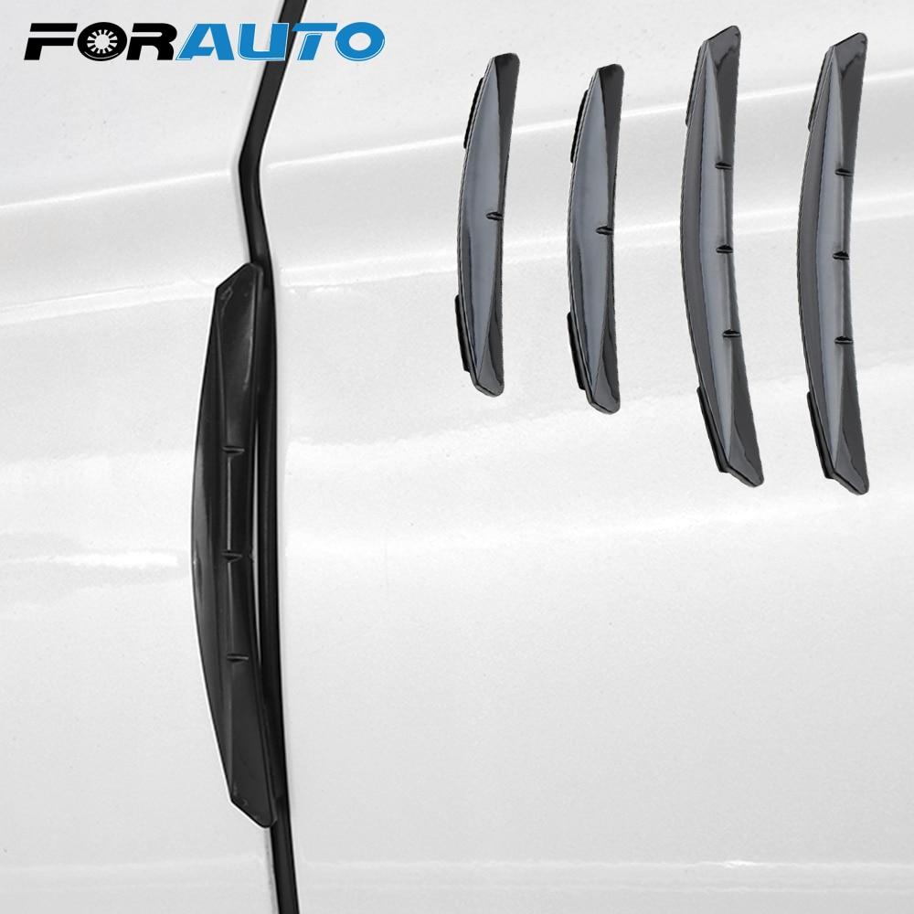 FORAUTO 4Pcs/set Trim Molding Protection Strip Scratch Protector Car Sticker Anti-collision Adhesive Door Edge Guards