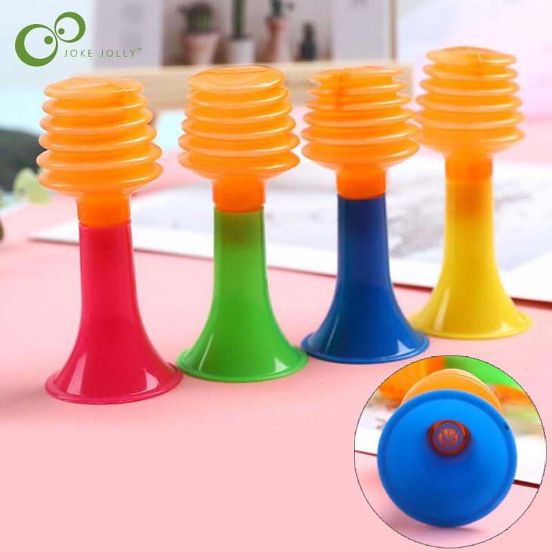 10 pièces Mini trompette en plastique Instruments de musique pour enfants bébé enfants en appuyant sur son trompettes petits jouets cadeau pour les enfants GYH