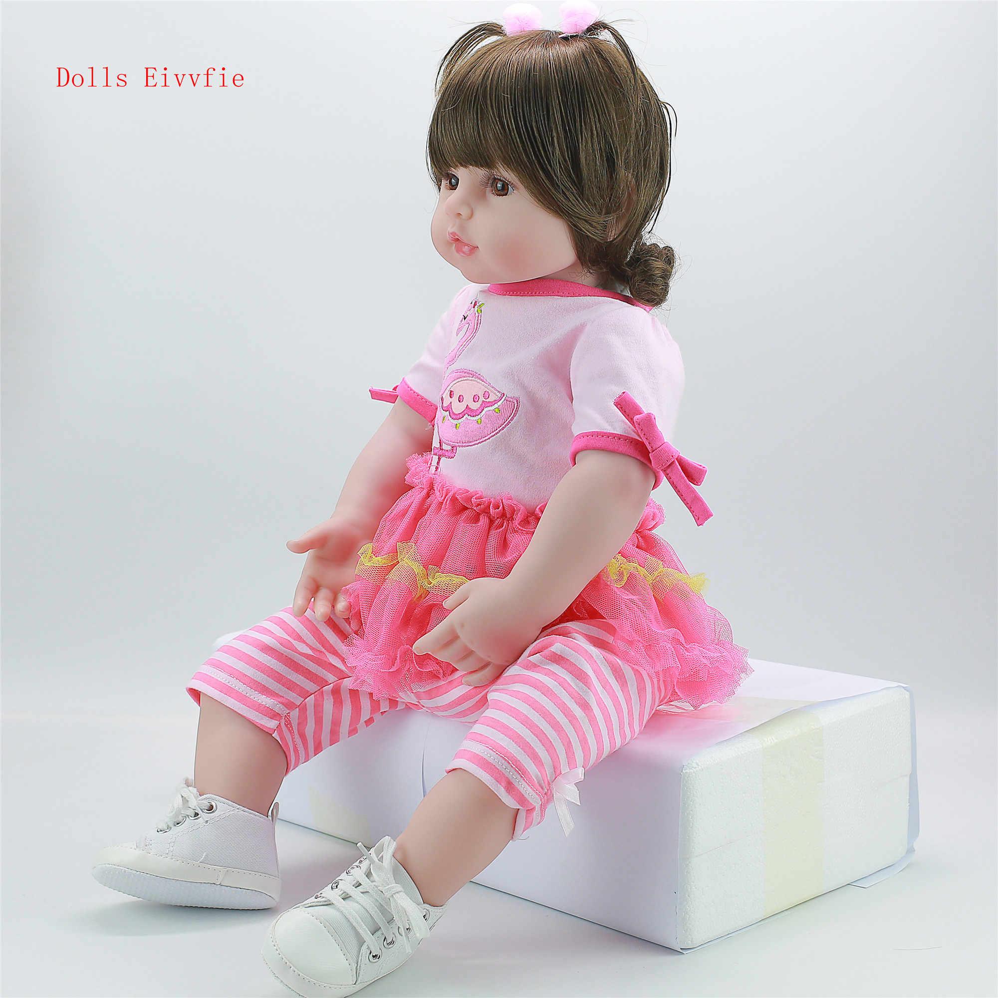 58 cm silicone bebe renascer bebê super brinquedo do bebê renascer realista boneca criança do bebê brinquedo criança lol presente