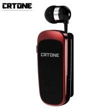 CRTONE سماعة رأس بلوتوث لاسلكية K52 ، سماعة رأس رياضية صغيرة مع تذكير المكالمات والاهتزاز ، مشبك ، PK F910 F920