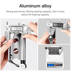Image 3 - Bike Block Fork Mount Aluminum Alloy Quick Release bike front rack Fork Fixed Clip bicycle luggage rack for bicycle trailer