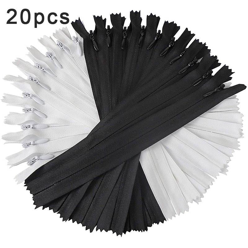 3 # черный, белый цвет мини невидимых застежек-молний нейлоновая катушка для по индивидуальному заказу; Прошитые вручную нейлон платье с мол...