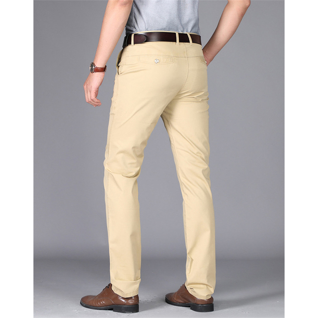 High quality cotton men's classic trousers