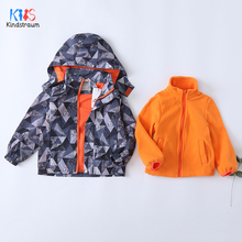 2019 Children Jackets For Boys 2 PCS Winter Coat Windbreaker for boy Toddlers Outerwear Waterproof Jacket Boy/girl DC197
