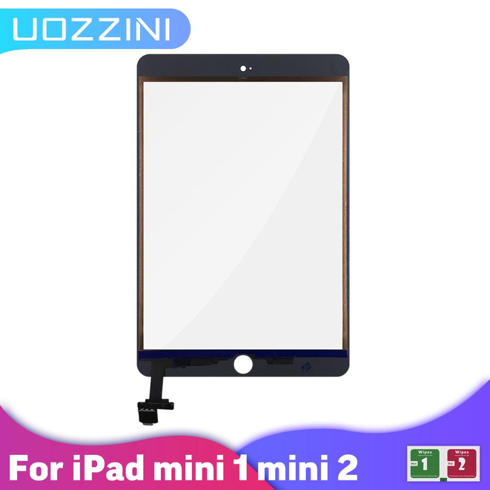 For iPad Mini 1A1432/A1455/A1454 Mini 2 A1489 A1490 A1491 Touch Screen Digitizer With IC Chip Connector Flex No/ With Key