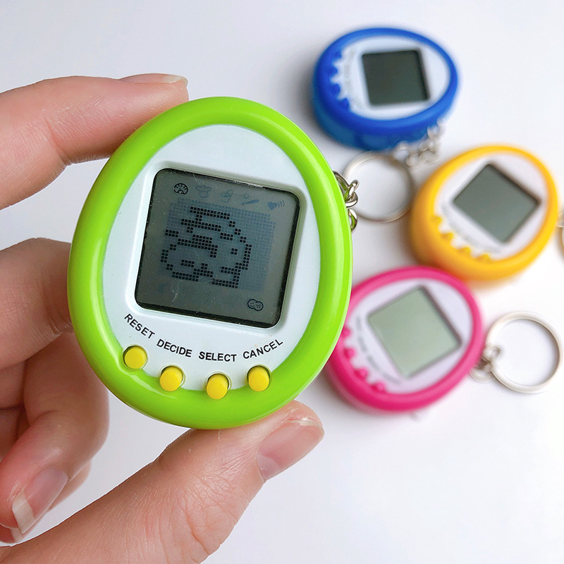 Round Electronic Pets Toys Nostalgic 168 Pets In One Virtual Tamagotchis Cyber Pet Toy Kering Gift Toys For Kid #2684