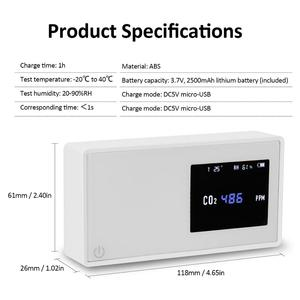 Image 5 - KKmoon CO2 Meter Carbon Dioxide Detector Air Quality Detector Monitor CO CO2 HCHO TVOC Detector CO2 Messgerät for Office Outdoor