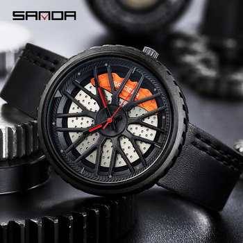 SANDA  Top Luxury Brand Men Analog Digital Leather Sports Watches Men's Army Military Watch Man Quartz Clock Relogio Masculino naviforce mens watches top brand luxury analog quartz watch men leather chronograph sports military watches relogio masculino