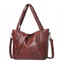 Hot Women Shoulder Bag Pu Leather Handbags Big Ladies Knitting Hand Bags Designer Handbags Big Tote Bags for Women Sac a Main