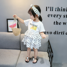 Spotted dress girl clothes cotton summer 2020 dresses girl k