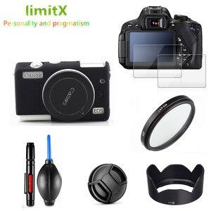 Image 1 - Kit de proteção para câmera e filtro uv, protetor de tela, caneta de limpeza, soprador de ar para canon eos m100 15 lente de 45mm
