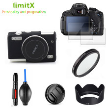 Protection Kit Camera case Screen Protector UV Filter Lens hood Cap Cleaning pen Air Blower for Canon EOS M100 15 45mm lens