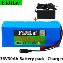 36V 10S4P 30Ah 500W high capacity 42V 18650 lithium battery pack 30000mAh electric bicycle scooter with BMS XT60 Plug + charger