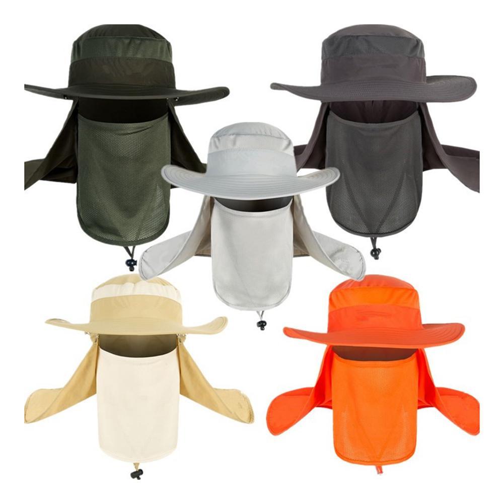 Unisex Sun UV Protectiom Mesh Bucket Hat Detachable Neck Face Flap Boonie Hat  Mesh Bucket Hat Detachable Neck Face Flap Boonie