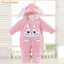 Jumpsuits Overalls Baby-Girl Rompers Born-Style Infant Cold-Winter Cartoon New Warm Cute