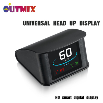 цена на Hud GPS OBD Computer Universal Car Speed Projector Digital Speedometer Display Fuel Consumption Temperature Overspeed Alarm