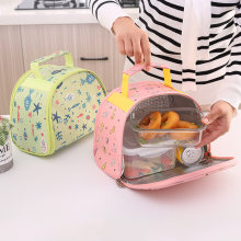 2019 Functional Pattern Cooler Lunch Box Portable Insulated Canvas Lunch Bag Thermal Food Picnic Lunch Bags For Women Kids(China)